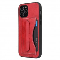 Mobiq Leather Click Stand Case iPhone 12 6.1 Rood - 1