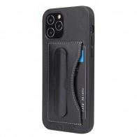 Mobiq Leather Click Stand Case iPhone 12 Mini Zwart - 1