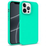 Mobiq Flexibel Eco Hoesje TPU iPhone 13 Pro Turqoise - 1