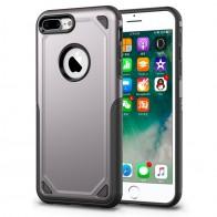 Mobiq Extra Stevig Hoesje iPhone 8 Plus/7 Plus Grijs - 1