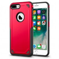 Mobiq Extra Stevig Hoesje iPhone 8 Plus/7 Plus Rood - 1