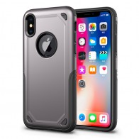 Mobiq Extra Stevig Hoesje iPhone XR Grijs - 1