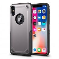 Mobiq Extra Stevig Hoesje iPhone X/XS Grijs - 1