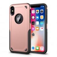 Mobiq Extra Beschermend Hoesje iPhone XS Roze - 1