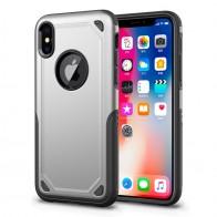 Mobiq Extra Stevig Hoesje iPhone X/XS Zilver - 1