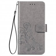 Mobiq Fashion Wallet Book Cover iPhone 12 Mini Grijs - 1