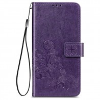 Mobiq Fashion Wallet Book Cover iPhone 12 Mini Paars - 1