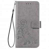 Mobiq Fashion Wallet Book Cover iPhone 12 6.1 Grijs - 1