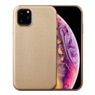 Mobiq Flexibel Carbon Hoesje iPhone 11 Pro Max Goud - 1
