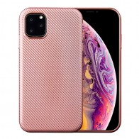 Mobiq Flexibel Carbon Hoesje iPhone 11 Pro Max Roze - 1