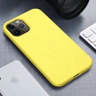 Mobiq Flexibel Eco Hoesje iPhone 12 6.1 inch Geel - 1