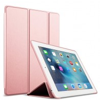 Mobiq Flexibele Tri-folio hoes iPad 9.7 2018/2017, iPad Air 2, iPad Air 1 Rose 01