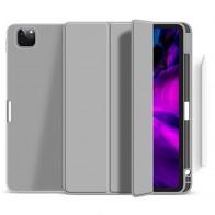 Mobiq Flexibele Folio Hoes iPad Pro 12.9 inch (2021) Grijs - 1