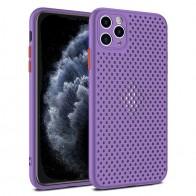 Mobiq - Geperforeerde TPU Case iPhone 12 / 12 Pro 6.1 inch Paars - 1