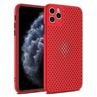 Mobiq - Geperforeerde TPU Case iPhone 12 Pro Max Rood - 1
