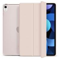 Mobiq Hard Case Folio Hoesje iPad Air (2020) Lichtroze - 1