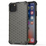 Mobiq honingraat armor hoesje iPhone 11 grijs - 1
