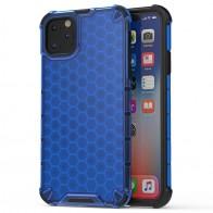 Mobiq honingraat armor hoesje iPhone 11 Pro Max blauw - 1