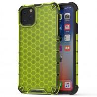 Mobiq honingraat armor hoesje iPhone 11 Pro geel - 1