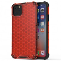 Mobiq honingraat armor hoesje iPhone 11 Pro Max rood - 1