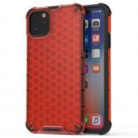 Mobiq honingraat armor hoesje iPhone 11 Pro rood - 1