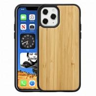 Mobiq Houten Hoesje iPhone 12 / 12 Pro Bamboe - 1