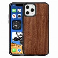 Mobiq Houten Hoesje iPhone 12 / 12 Pro Palisander - 1
