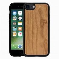 Mobiq Houten Hoesje iPhone SE (2020)/8/7 Kersen - 1