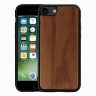 Mobiq Houten Hoesje iPhone SE (2020)/8/7 Walnoot - 1