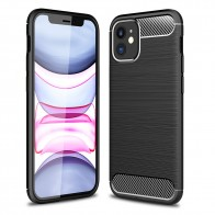 Mobiq Hybrid Carbon Hoesje iPhone 12 Mini Zwart - 1