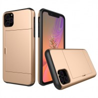 Mobiq Hybrid Card Case iPhone 11 Pro Goud - 1