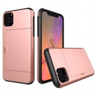 Mobiq Hybrid Card Case iPhone 11 Roze - 1