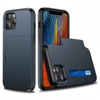 Mobiq Hybrid Card Hoesje iPhone 13 Mini Blauw - 1