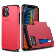 Mobiq Hybrid Card Hoesje iPhone 13 Mini Rood - 1