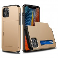 Mobiq Hybrid Card Hoesje iPhone 13 Pro Max Goud - 1