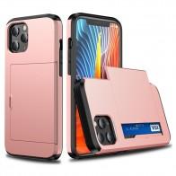 Mobiq Hybrid Card Hoesje iPhone 13 Roze - 1