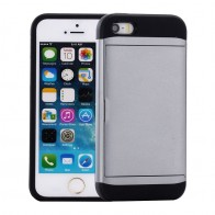 Mobiq Hybrid Card Case iPhone 8/7 Grijs - 1