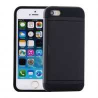 Mobiq Hybrid Card Case iPhone 8/7 Zwart - 1