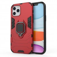 Mobiq Hybrid Magnetic Ring Case iPhone 12 6.1 Rood - 1