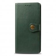 Mobiq Klassieke Wallet Case iPhone 12 6.1 Groen - 1