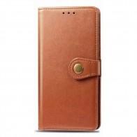 Mobiq Klassieke Wallet Case iPhone 12 Mini Bruin - 1