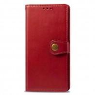 Mobiq Klassieke Wallet Case iPhone 12 Pro Max Rood - 1