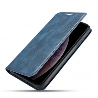 Mobiq - Slim Magnetic Wallet iPhone 11 Blauw - 1