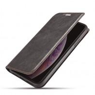 Mobiq - Slim Magnetic Wallet iPhone 11 Pro Max Zwart - 1