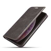 Mobiq - Slim Magnetic Wallet iPhone 11 Pro Max Zwart - 1