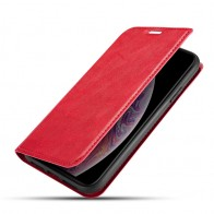 Mobiq - Slim Magnetic Wallet iPhone 11 Rood - 1