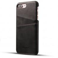 Mobiq Leather Snap On Wallet iPhone 8 Plus/7 Plus Zwart - 1