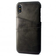 Mobiq Leather Snap On Wallet iPhone XR Zwart 01