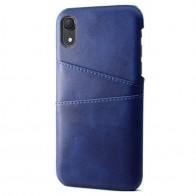 Mobiq Leather Snap On Wallet iPhone XS Max Blauw 01