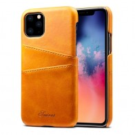 Mobiq Leather Snap On Wallet iPhone 11 Pro Max Tan Brown - 1